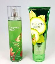 Bath and Body Works CUCUMBER MELON Fragrance Mist and Body Cream - 2 pc Set -