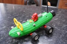 Vintage Retro Kitsch 1960s ZUCCHINI / CUCUMBER PUSH ALONG RACING CAR