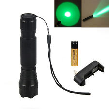 Tactical 5000LM CREE verde LED 501B Flashlight Torcia Leggero+18650 Charger Nuov