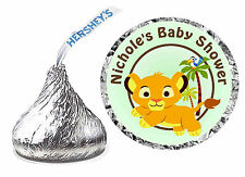 216 LION KING BABY SIMBA BABY SHOWER FAVORS HERSHEY KISS KISSES LABELS