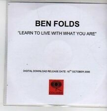 (CP938) Ben Folds, Learn To Live With What You Are - 2006 DJ CD