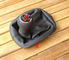 FITS VW PASSAT B5 FL QUALITY GEAR GAITER LEATHER DARK GREY