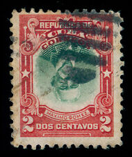 MOMEN: US POSSESSIONS STAMPS #240a INVERTED CENTER 2cCUBA USED