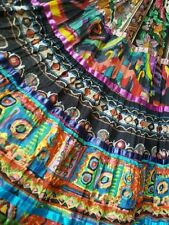 Soft Surroundings Gypsy Tier Cotton Colorful Flare Long Full Skirt M 8/10 EUC