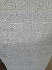 Architectural Tin Ceiling Paintable Wallpaper Long Wide X Square Feet