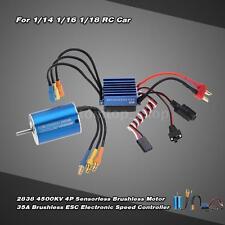 2838 4500KV 4P Motor & 35A Brushless ESC for 1/14 1/16 1/18 RC Car T4F4
