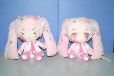 "Vocaloid Sakura Miku 2 Plush doll Set TAITO JAPAN 6"" Hatsune Miku"