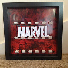 Lego Marvel Super Heroes Avengers Marvel Logo Minifig Display Frames Cases