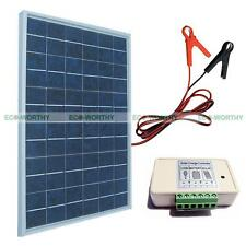 10W Solar Panel Kit for Home 12V Battery Charger W/ 3A Controller& Battery Clip
