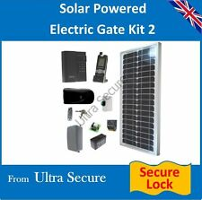 Solar Powered Electronic Gate Lock & Wireless Intercom, Keypad & Release Switch