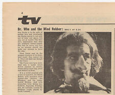 Radio Times for 'The Mind Robber' 1, with small article. Vgc. Dr Doctor Who