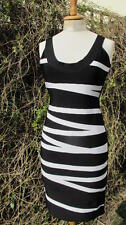 fabulous new 100% genuine Hervé Léger bandage bodycon monochrome DRESS Lge £1190