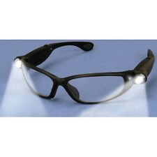 Safety Glasses with LED High Beam Clear Lens Padded  Temple Flashlight  Lights