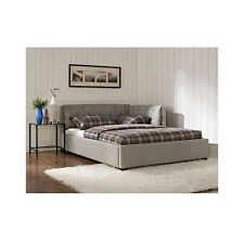 Platform Upholstered Bed Full Size Daybed Headboard Frame Bedroom Furniture Set