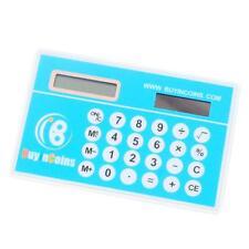 Practical Mini Slim Credit Card Solar Powered BuyinCoins LOGO Pocket Calculator