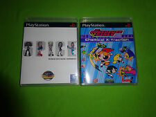 EMPTY CASES! Spice World + POWERPUFF GIRLS CHEMICAL X-TRACTION PS1 PS2 PS3