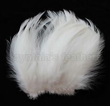 "100+ Ivory / Cream 5-7"" hackle rooster COQUE Feathers for Crafting, Cynthia's"