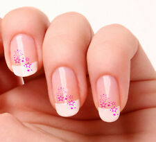 20 Nail Art Decals Transfers Stickers #127 - Stars pink