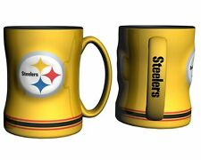 Pittsburgh Steelers Yellow Coffee Mug - 15oz Sculpted [NEW] Microwave Cup CDG