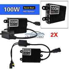 Pair 100W quick start HID Xenon replacement ballast kit for H3 9005 9006 HB3 HB4