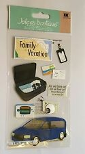 BNIP Jolees Boutique Card Making Embellishments Family Vacation Holiday Suitcase