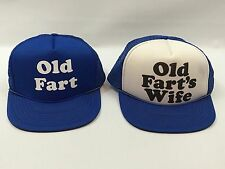 Old Fart & Old Fart's Wife Funny Trucker Mesh Snapback Anniversary Gag Gift Hats