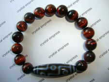FENG SHUI - 9 EYE DZI WITH 10MM RED TIGER EYE