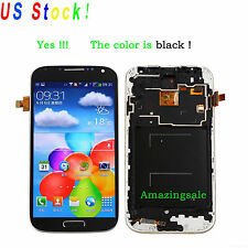 Black For Samsung Galaxy S4 i9505 LCD Screen Digitizer Assembly Replace + Frame