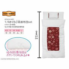 AZONE 1/6 Pure Neemo Japanese Tatami Sakura Futon Bed Set Red FREESHIP US NEW