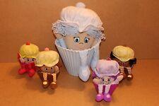FASCIO di Little Miss Muffin bambole POP N FLIP Soft Giocattolo Bambole 1 grandi 4 piccoli