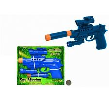 SPY MISSION HANDGUN WITH TORCH & SILENCER LIGHT & SOUND CLASSIC CHILD'S TOY 178