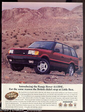 1996 RANGE ROVER advertisement, Land Rover Range Rover 4.6 HSE