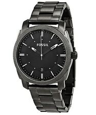Fossil Machine Black Dial Smoke IP Stainless Steel FS4774 Men's Watch MSRP $125