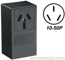 WELDER ELECTRIC WALL OUTLET FEMALE 10-50R 3-PRONG PLUG IN BOX 220 RECEPTACLE