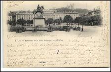 Lyon France  Frankreich CPA 1901 Panorama de la Place Bellecour Statue
