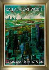 MAGNET Travel Poster Photo Magnet DALLAS FORT WORTH Delta Air Lines