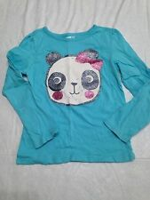 EUC sz 5t Crazy8 Gymboree Blue Glitter Panda top