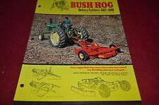 Bush Hog 600 502 Rotary Cutter Dealer's Brochure YABE10