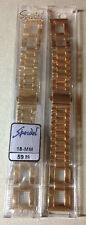 18MM Speidel Gold Stainless Deployment Buckle Watch Band! Model 1769/10