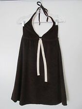 Lucky Brand Bathing Suits Brown Terry  Halter Tie Mini Cover-up SIZE:XS-S NWOT