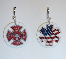 FIREFIGHTER - PARAMEDIIC - EMT Earrings or PERSONALIZE with YOUR NAME or PHOTO