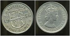 ILE MAURICE  one 1  rupee  1956  ( bis )