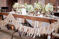 Wedding Backdrop Burlap Lace Prop Photo Garland Decoration Rustic Vintage Barn