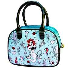 Fluff Molly Mermaid Bowler Handbag Limited Edition Tattoo Rockabilly Retro Purse