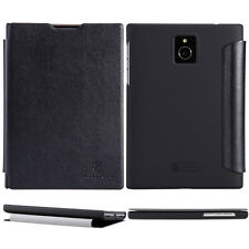 For BlackBerry Passport Nillkin Black Flip PU Leather Skin Case Cover Pouch Bag