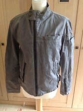 GREAT G STAR RAW GREY DENIM JACKET WITH STUD DECORATION ON ARM UK SIZE M WORN