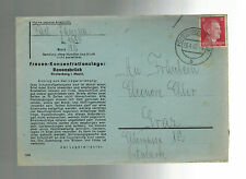 1942 Germany Ravensbruck Concentration Camp Cover KZ to Graz Austria Janina Fait
