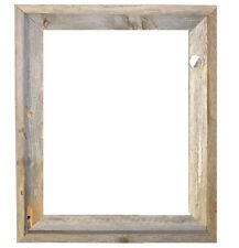 "16x20–2"" Wide Signature Reclaimed Rustic Barn Wood Open Frame (No Glass Or Back)"
