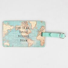 Vintage Map Time to go Luggage Tag - Perfect for your travels. Holiday gift