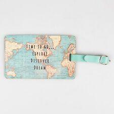 Carte Vintage Temps to go étiquette de bagage - votre voyages Vacances